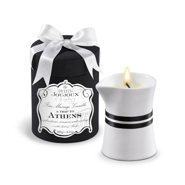 After the fragrant candle has been lighted its wax is melting to a comfortably warm massage oil which is indulging and nourishing the skin. The exquisite Petits Joujoux massage candles are available in 6 beguiling scents, which have been chosen representative for 6 great places: