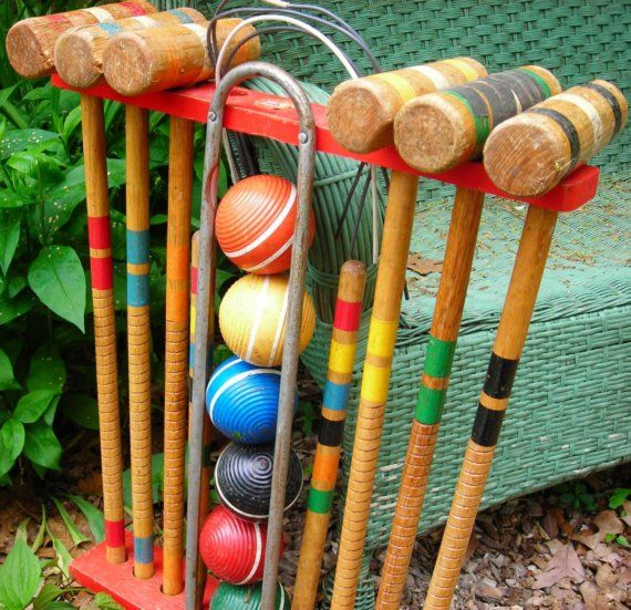 Croquet Set - I always played this with my grandfather. Fond memories