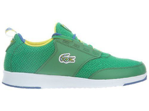 Lacoste Mens LIght01 Qs GreenBlue Sneaker 12 D -- Click image to review more details. (It is an affiliate link and I receive commission through sales)