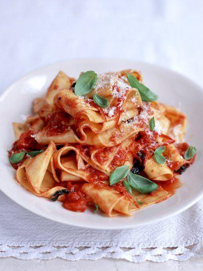 Pappardelle & Tomato Sauce | Pasta Recipes | Jamie Oliver Recipes