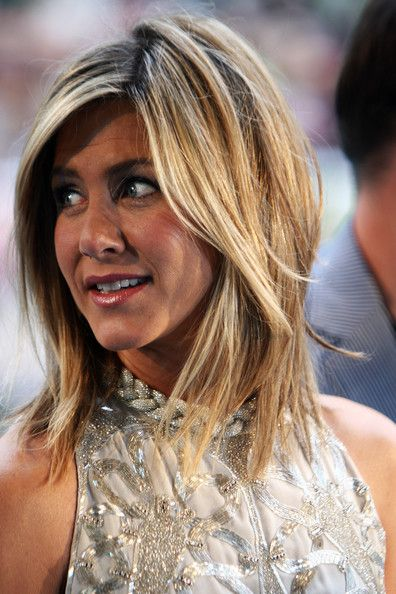Jennifer Aniston Medium Layered Hairstyles 2012