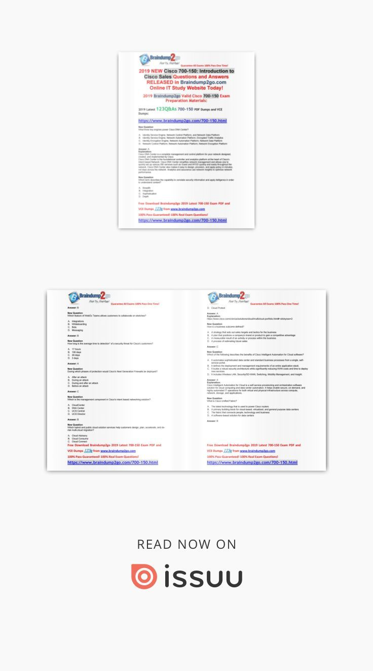 October 2019 Braindump2go 700 150 Vce And 700 150 Pdf New Version This Or That Questions Exam Online Study