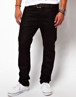 ASOS Slim Jean In 11.05oz Black Denim