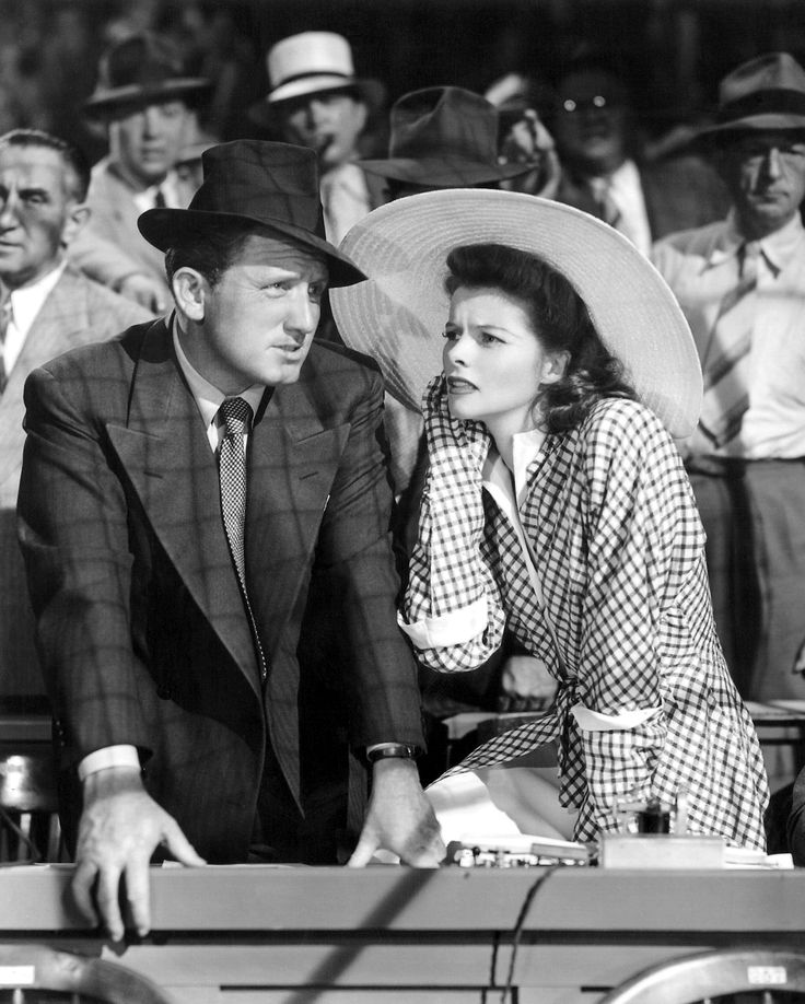 Katherine Hepburn and Spencer Tracy in Woman of the Year (1942)