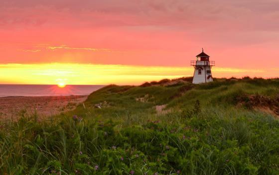 Sunrise At Covehead Lighthouse