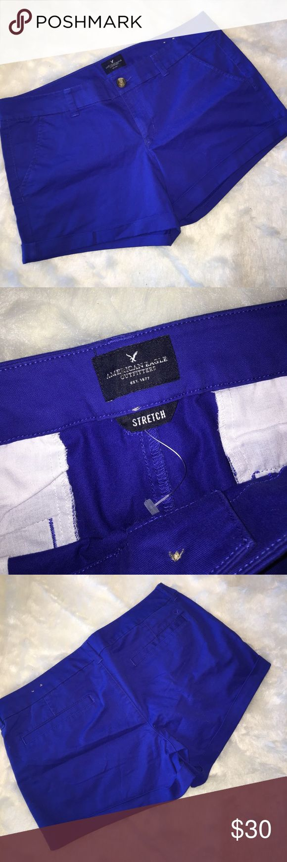 NWOT American Eagle royal blue shorts Royal blue shorts never worn. Cuffed bottoms and front and back pockets and belt loops American Eagle Outfitters Shorts