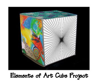 Elements black School Of flight of Art Projects   Art   jordan Middle   D   Cubes Project  Cube high Art  Elements    and