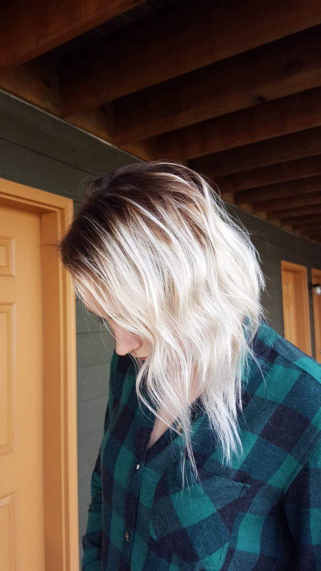 Platinum blonde ombré