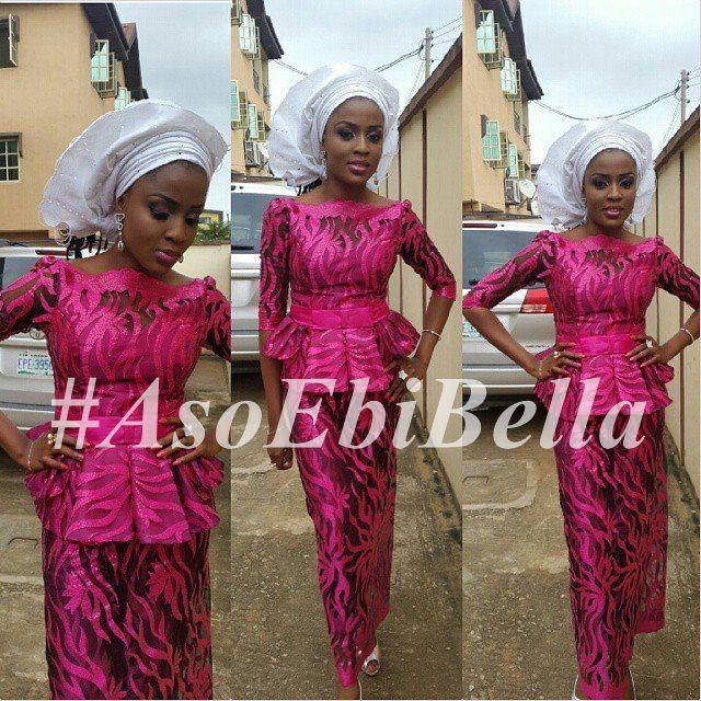 Nigerian peplum style dresses
