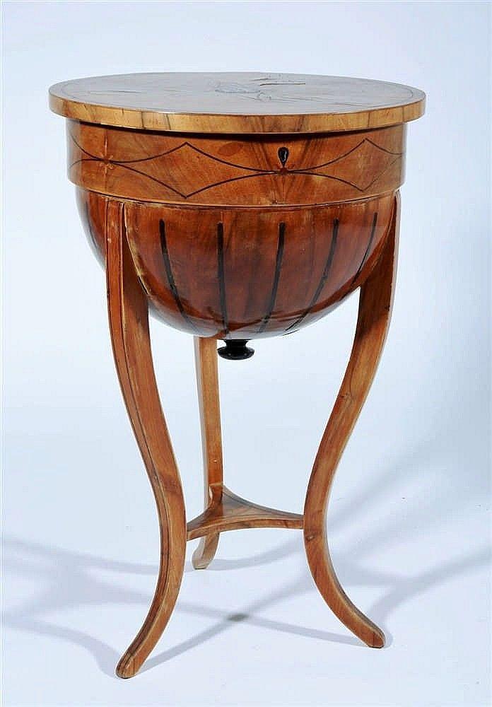 Nice Vienna circa an extremely rare piece of furniture wood veneer