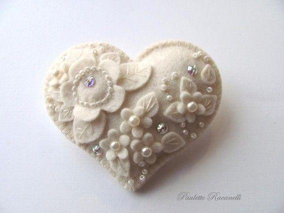 Sparkle Wool Felt Heart - from Beedeebabee (Etsy)