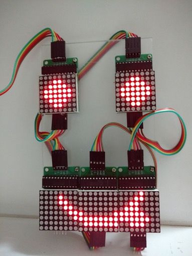 Best 28 led lighting ideas on pinterest homemade ice arduino and this tutorial shows how to control an array of 8x8 led matrices using an arduino uno solutioingenieria Choice Image