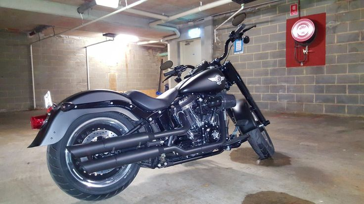 My denim black Harley Davidson fatboy s 2016