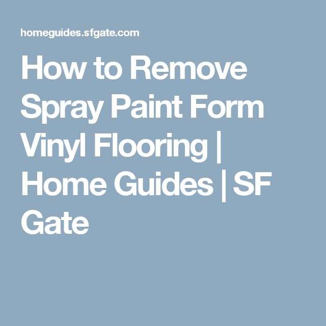 how to remove spray paint form vinyl flooring vinyls home and paint. Black Bedroom Furniture Sets. Home Design Ideas