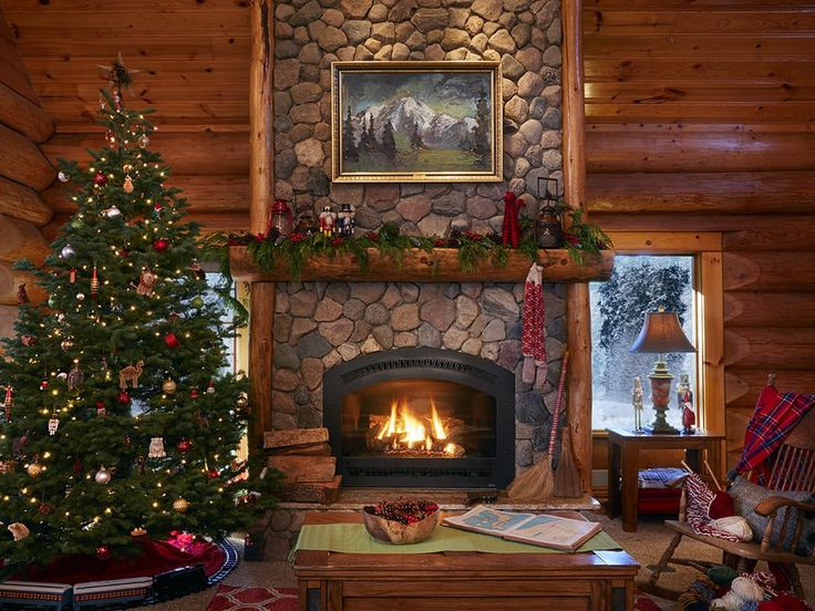 A Cozy Log Cabin Full Of Holiday Cheer U2014 House Of The Day. Christmas  Decorating IdeasChristmas ...