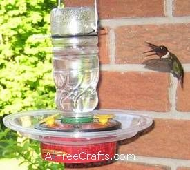 This site shows you how to make a humming bird feeder and humming bird food.  Bring the little birdies into your garden.