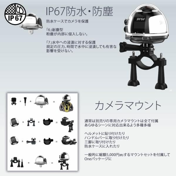 4K HD 防水パノラマ アクション カメラ スポーツWiFi 全天球 360_画像3
