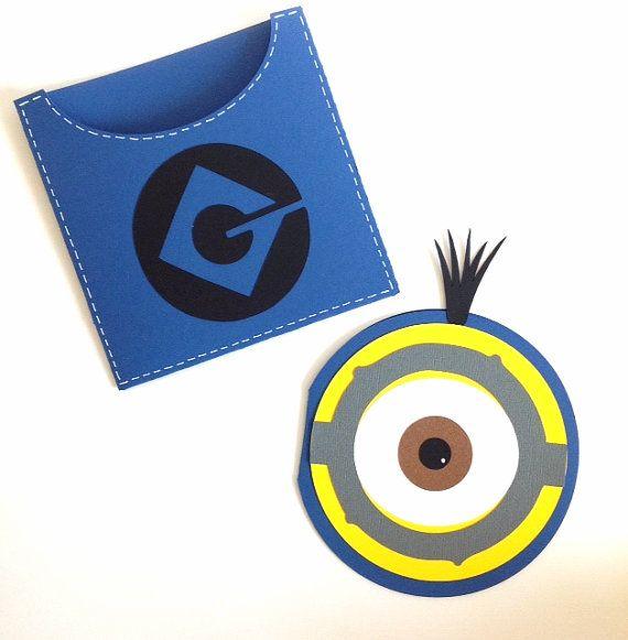 Minions Invitations - Set of 12 | Despicable me invites | Minion handmade invitation cards.
