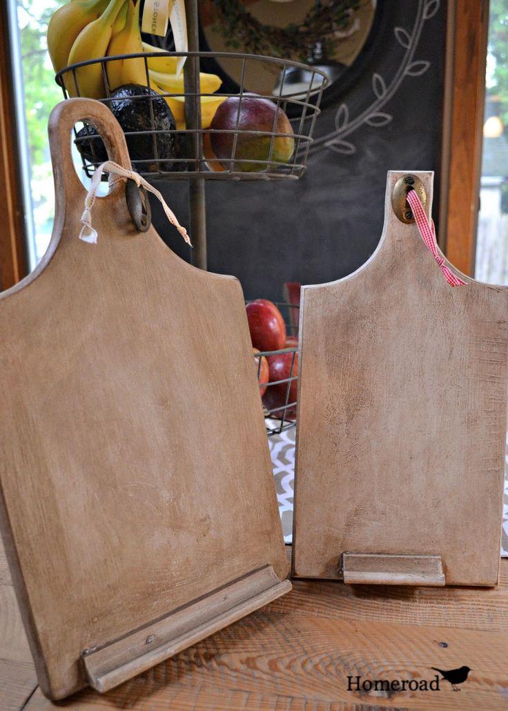 DIY ipad stands from cutting boards www.homeroad.net