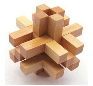 Wooden 3D lock Puzzle China Classic Burr Puzzles Series Toy Brain Teaser Game Toy for Adults Children