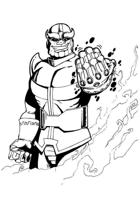 14+ Avengers infinity war printable thanos coloring pages trends