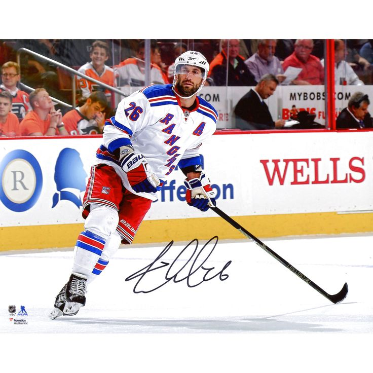 """Jarret Stoll New York Rangers Fanatics Authentic Autographed 8"""" x 10"""" White Jersey Skating Photograph - $14.24"""