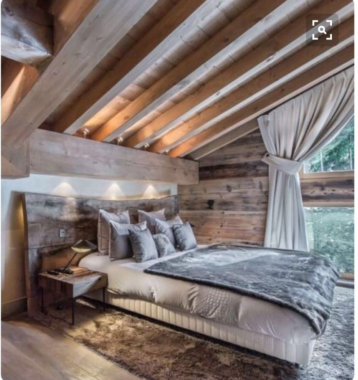 Rustic- loft bedroom in pool house