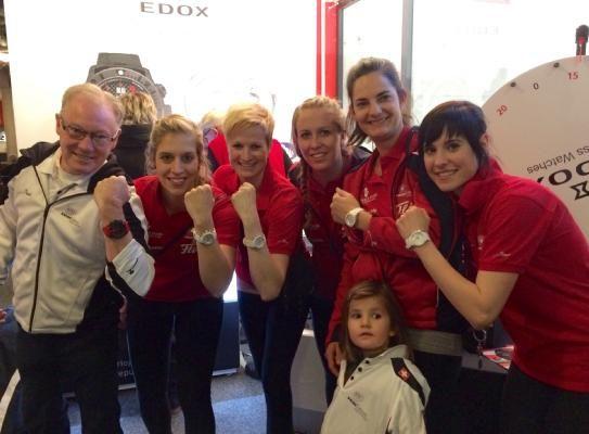 Swiss women's curling team, gold medalist at the European Curling Championships #ecc2014