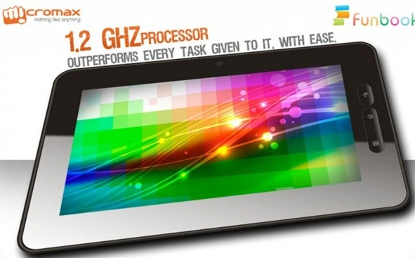 Micromax comes out with a tablet called Funbook