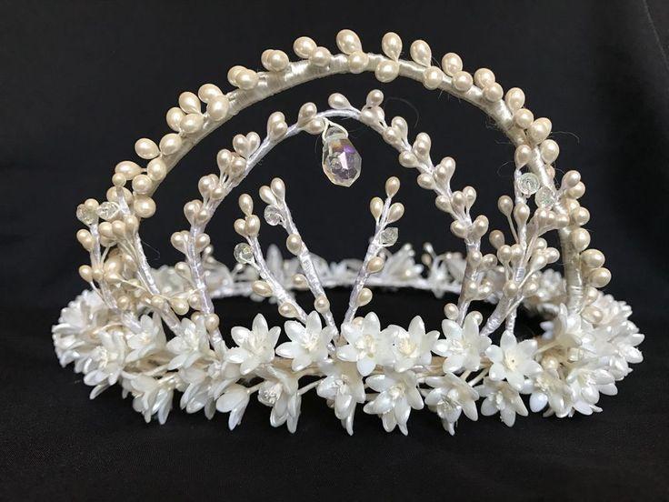 VINTAGE WEDDING BRIDAL FLORAL CROWN HEADPIECE  #Crown