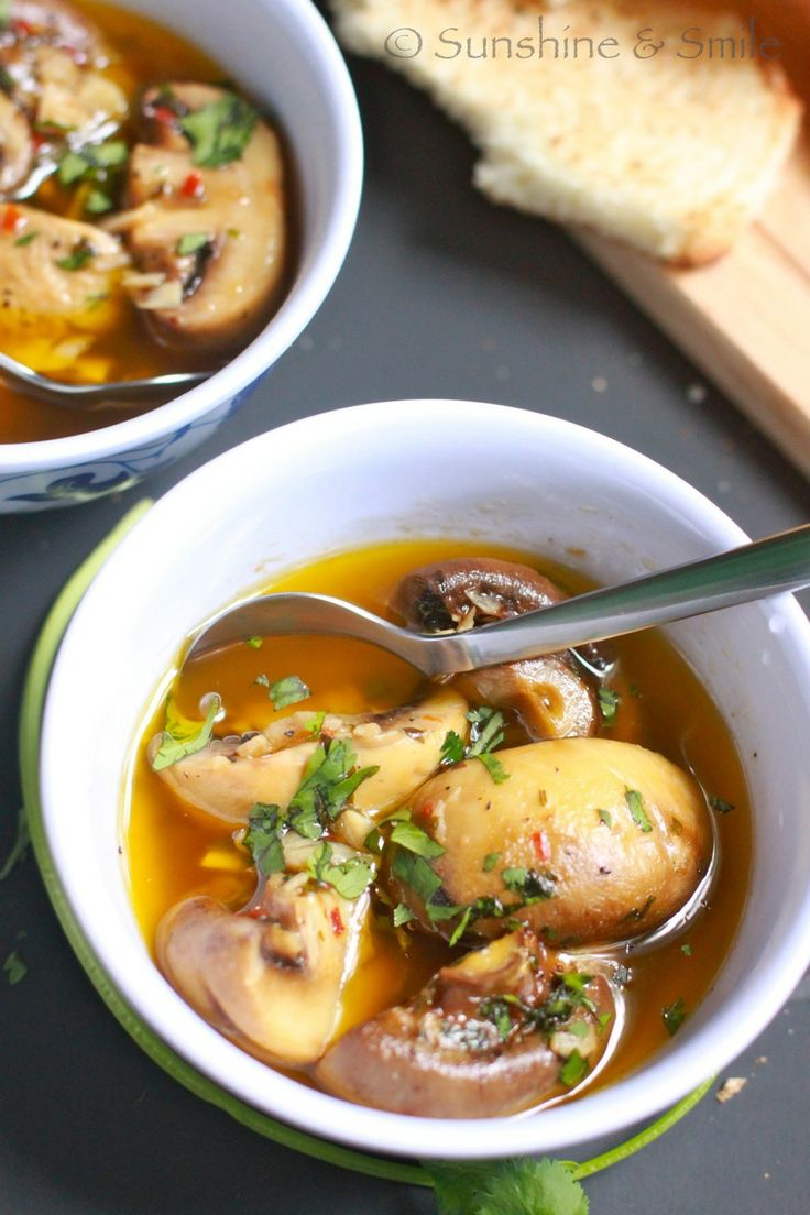 Roasted Garlic Mushroom - Drool worthy!: Playful Cooking, Food Recipes, Garlic Mushrooms, Food Porn, Roasted Garlic, Baking, Favorite Recipes, Soup Recipes, Mushroom Soup