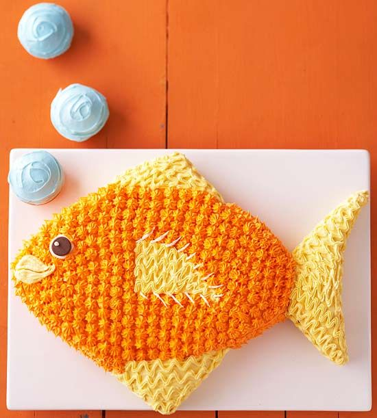 BHG tropical fish cake idea