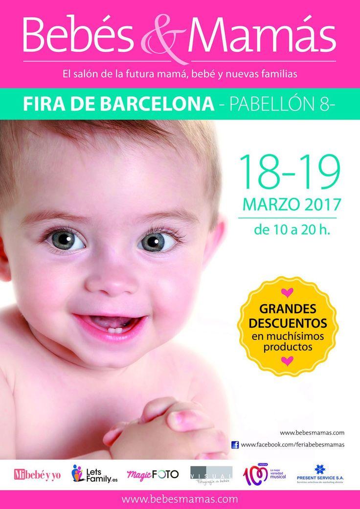 El fin de semana del 18 y 19 de marzo de 2017 tendrá lugar una nueva edición de #Bebés&Mamás en #Barcelona (pabellón 8 de Fira de Barcelona, recinto Montjuic).