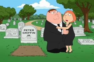 "Peter Griffin Jr. was a possible infant son of Peter and Lois Griffin named after his father. His grave is seen in ""The Juice Is Loose""."