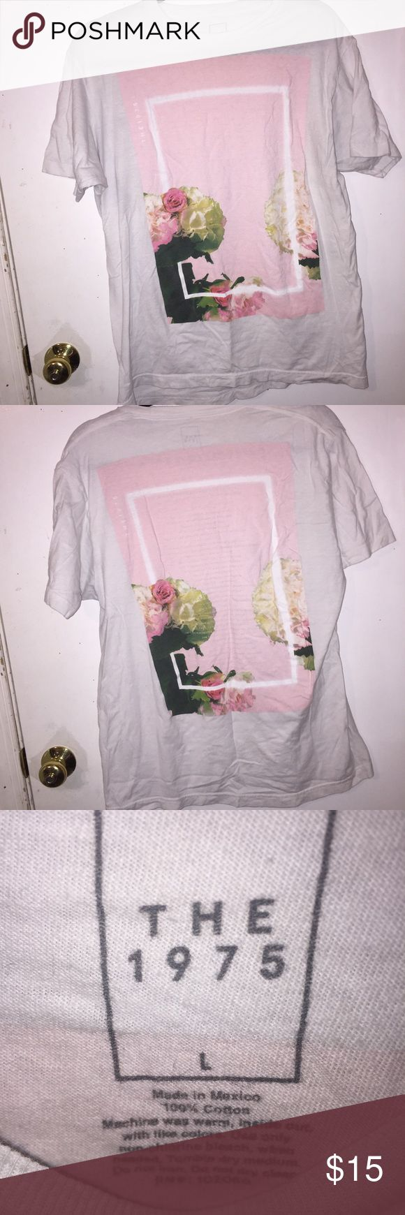 The 1975 pink roses tour shirt Gently used. Great condition. Price negotiable. No trades. Bundle to save money. The 1975 Tops Tees - Short Sleeve