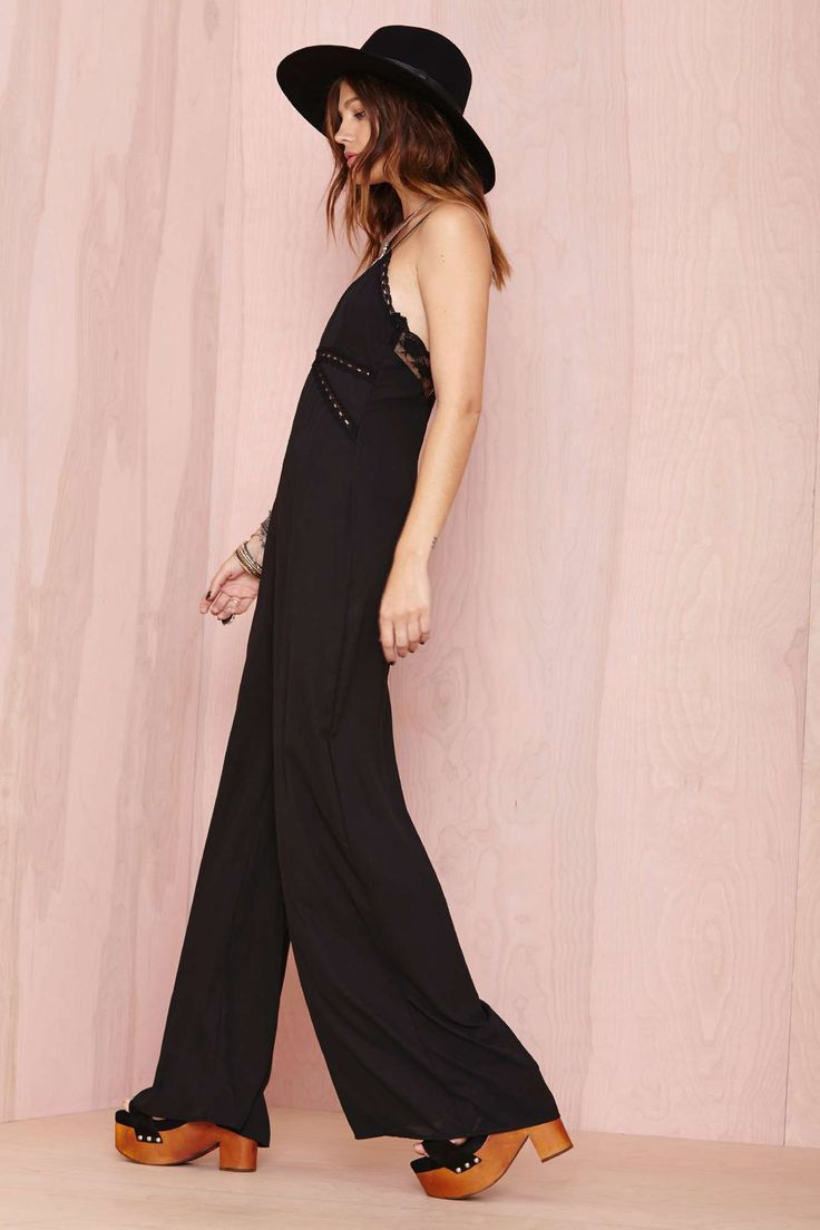 Nasty Gal All Night Long Jumpsuit | Shop Lace Is More at Nasty Gal