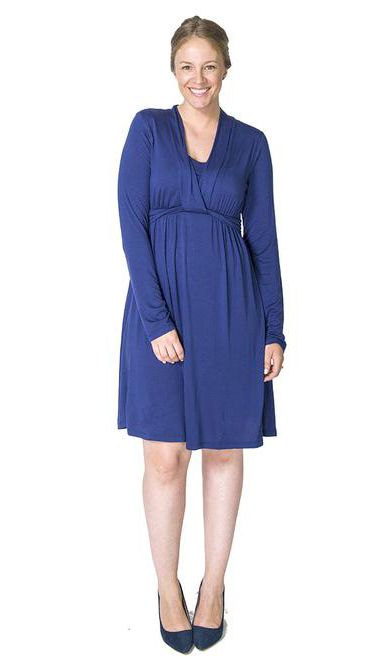 Mommy and baby's night out? Choose a chic and stylish Maternity and Nursing Dress Momzelle Abigail for a stress-free discreet breastfeeding anywhere.