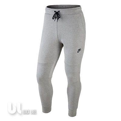 Nike Tech Fleece Pants Herren Trainings Hose Fitness Jogging Fleece Hose Grau S