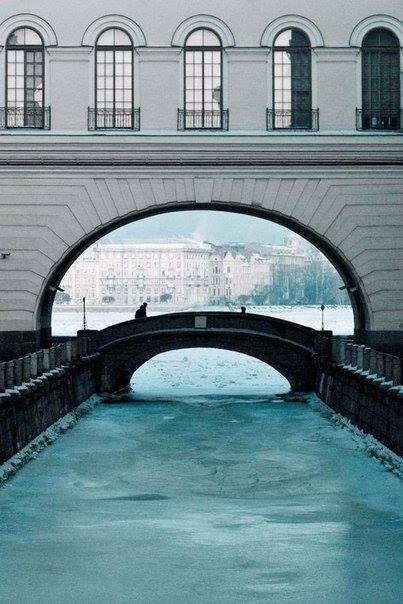 Зимняя Нева, Санкт-Петербург
