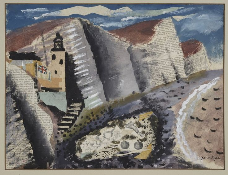 John Piper: 'BEACH AND STAR FISH – SEVEN SISTERS CLIFF EASTBOURNE, 1933-34'