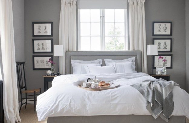 bed, bedroom, headboard