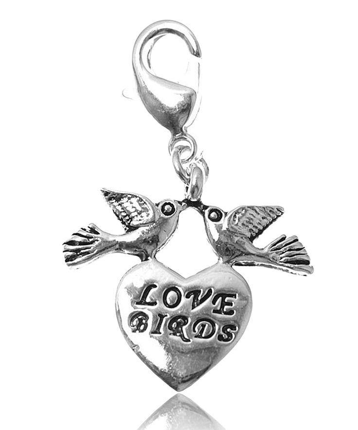 Charm love birds plaqué argent - So Charm