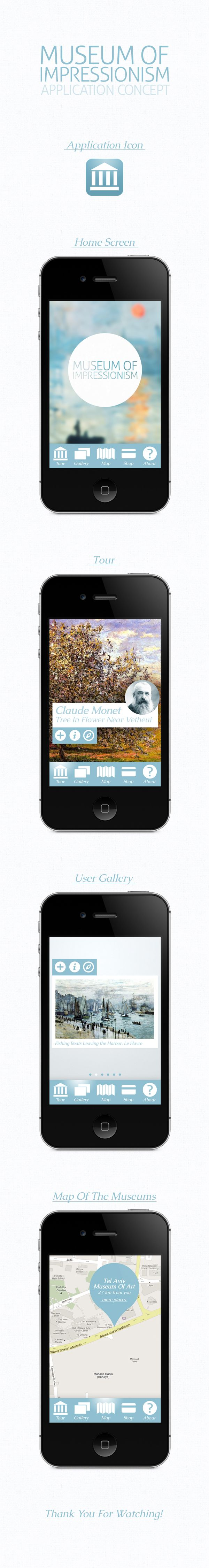 Museum Of Impressionism App Concept by Denis Korytchenko, via Behance