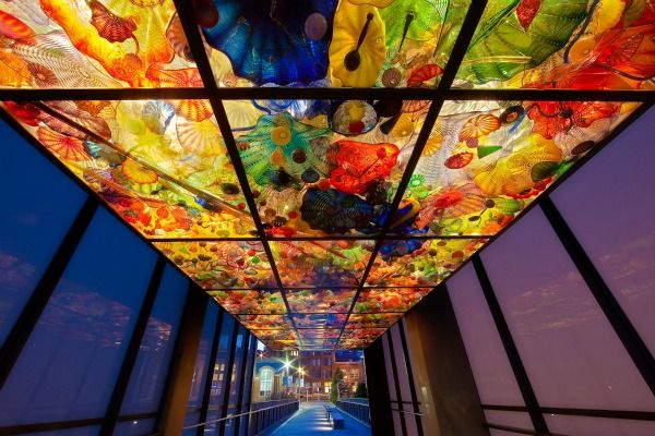 Dale Chihuly Bridge of Glass Tacoma WAHappy Birthday, Outdoor Art, Glasses Museums, Chihuly Bridges, Glasses Art, The Bridges, Places, Tacoma Washington, Dale Chihuly