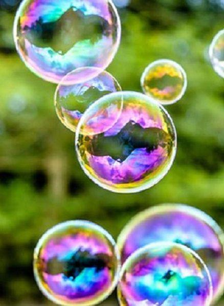Bubbles catch the world's colors