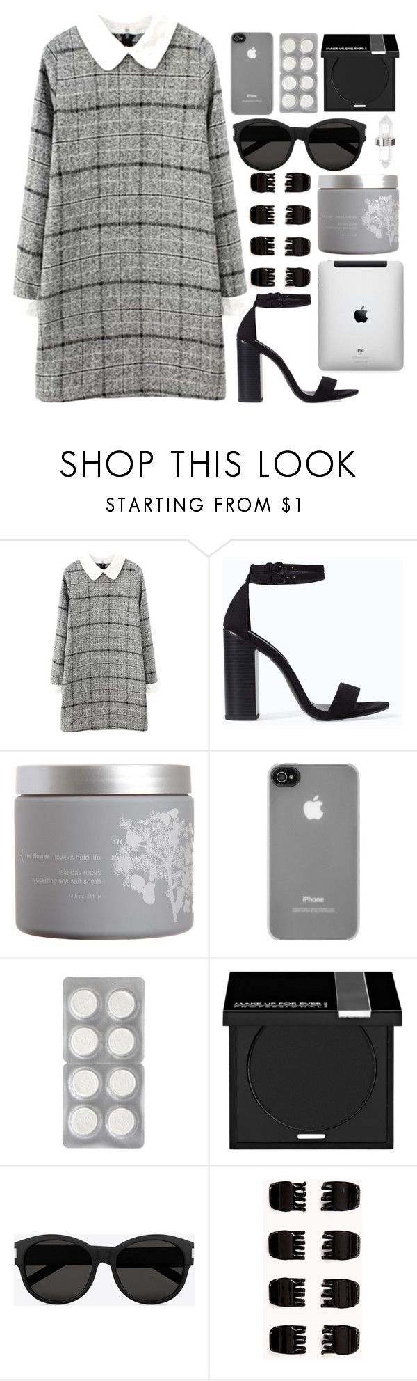 """""""tear in my heart // twenty one pilots"""" by exhalezarry ❤ liked on Polyvore featuring Zara, red flower, Incase, MAKE UP FOR EVER, Yves Saint Laurent, Forever 21 and Amber Sceats"""