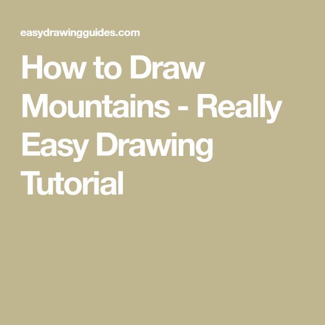how to draw mountains easy step by step