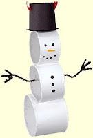 Mrs. Art Teacher! Toilet roll snownam :)