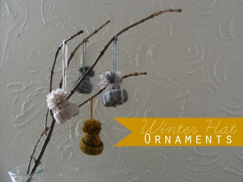 Winter Hat Ornament tutorial. I know, it's not a crochet tip or pattern....but it's so darn cute!