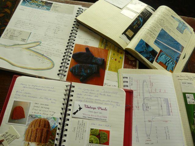 Knitting Journal Ideas : Best images about fiber crafts journal notebook on